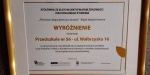 certyfikat wyróżnienie
