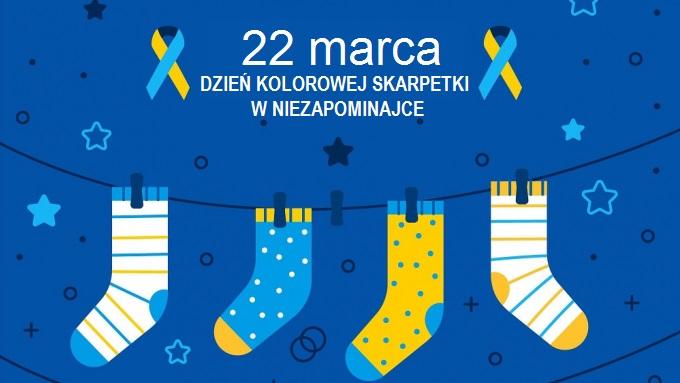 22 marca dzień kolorowej Skarpetki w Niezapominajce zdjęcie