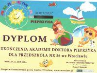 Dyplom ukończenia Akademii Doktora Pieprzyka